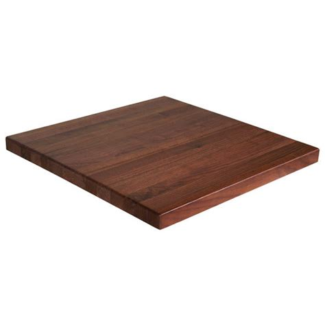 rectangular walnut butcher block table top with full
