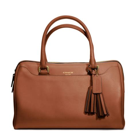 Coach Legacy Leather lyst coach legacy leather satchel in brown