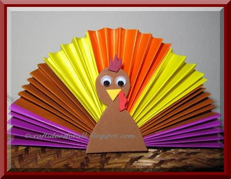 Paper Turkey Craft - craft ideas for all celebrate thanksgiving with turkey craft