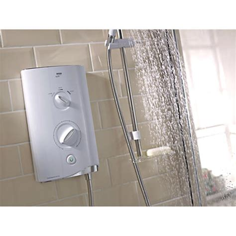 Mira Sport Multifit 9 8 Kw Shower by Mira Sport Thermostatic Electric Shower 9 8kw White Chrome