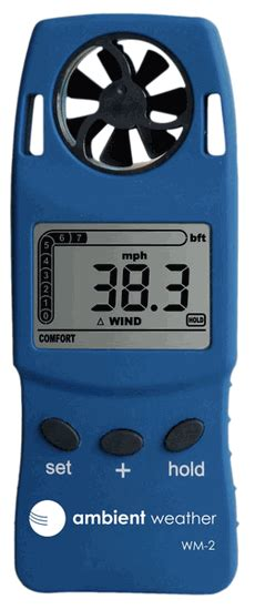 ambient weather wm  handheld weather meter  windspeed