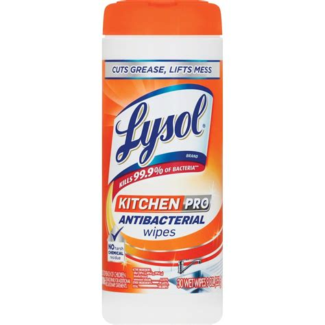 lysol kitchen pro anti bacterial wipes