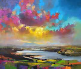 vibrant oil paintings of scottish landscapes by scott
