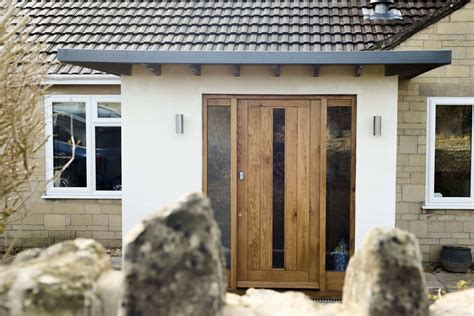Oak Front Doors With Glass A Contemporary Front Door