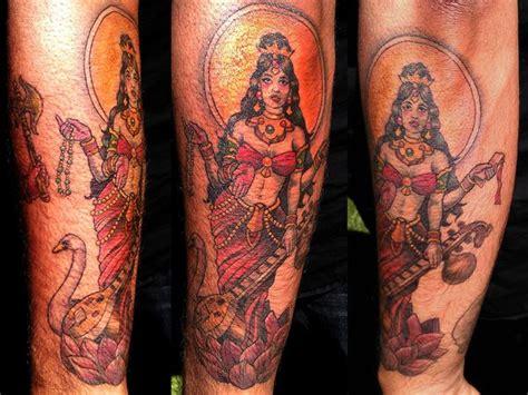 saraswati tattoo designs goddess saraswati 25 remarkable hindu tattoos