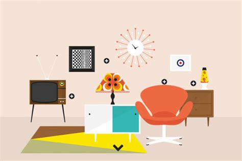 1960s Interior Design Trends by An Interactive Infographic Of Interior Design