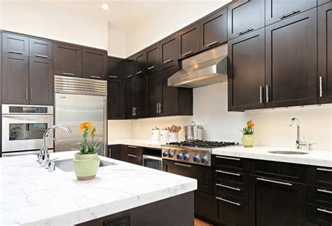 small kitchen with dark cabinets small kitchen design dark cabinets