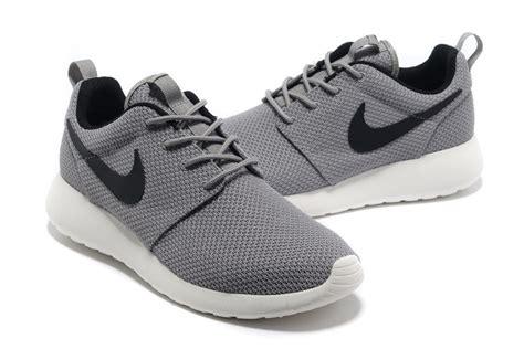 new roshe run shoes mens new nike roshe run light grey black running shoes