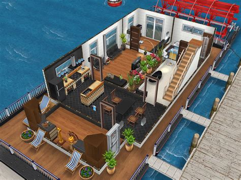 sims freeplay house design houseboat 1 sims house