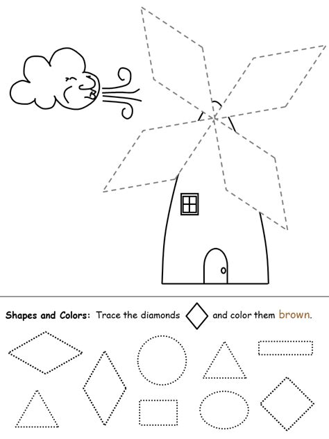 pattern recognition ideas in practice shapes recognition practice worksheet diamond trazos