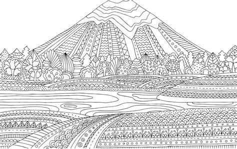 coloring pages landscapes mountains emejing mountain landscape coloring pages gallery