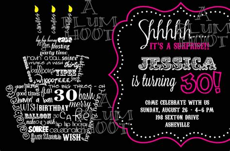 30th Birthday Invitation Template 40th birthday ideas 30th birthday invitations templates