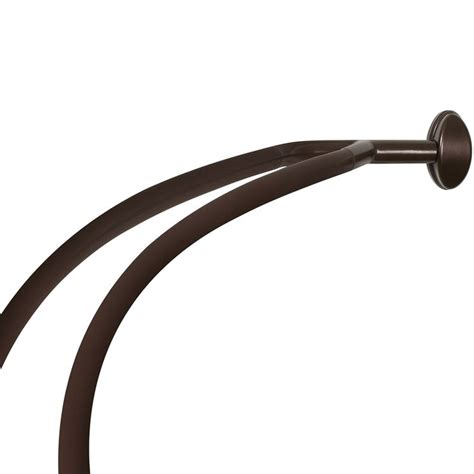 bronze curved shower curtain rod 17 best ideas about double shower curtain on pinterest