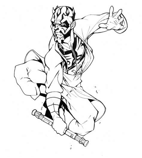 coloring pages of darth maul darth maul coloring pages coloring home