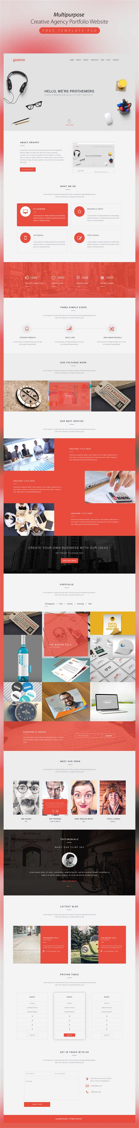 High Quality 50 Free Corporate And Business Web Templates Creative Portfolio Website Templates