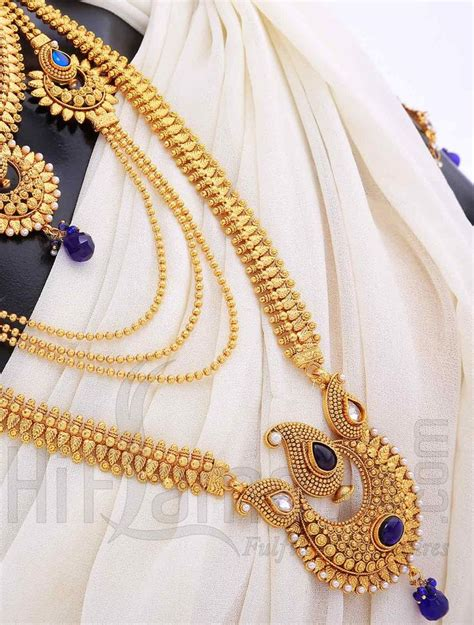 Indian Wedding Jewellery by Bridal Jewelry Set With Antique Blue Stones Indian