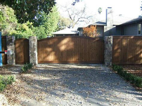 wood l post designs majestic driveway gate designs wood for exterior beauty