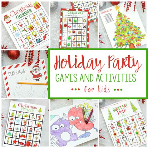 free printable holiday party games for kids fun squared
