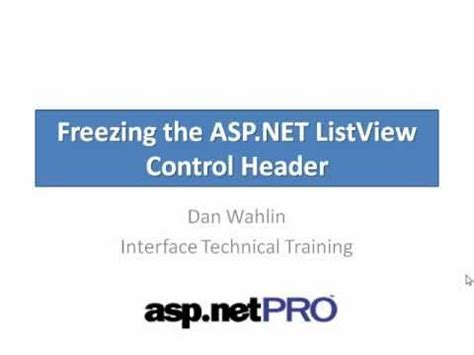 dan wahlin tutorial understanding the list view control in asp net asp net 14