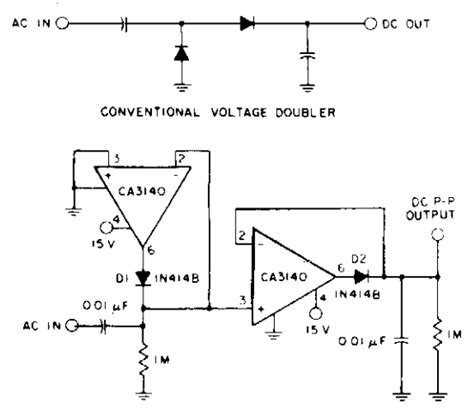 ac to dc converter schematic diagram build a precision top to top ac dc converter circuit