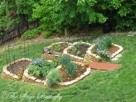 sage butterfly   built  tiered raised bed