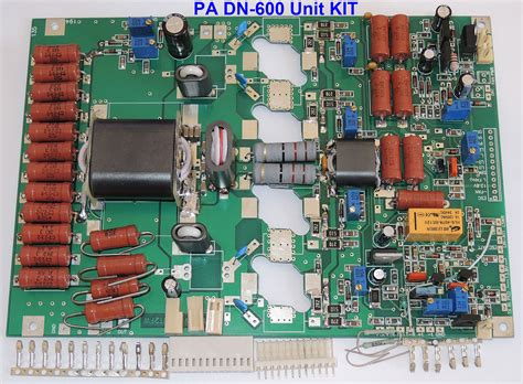 transistor hf lifier kit pa unit 600 1000w pep linear lifier dn 600 4x sd2933 mrf150 size pcb 192x135mm pa unit