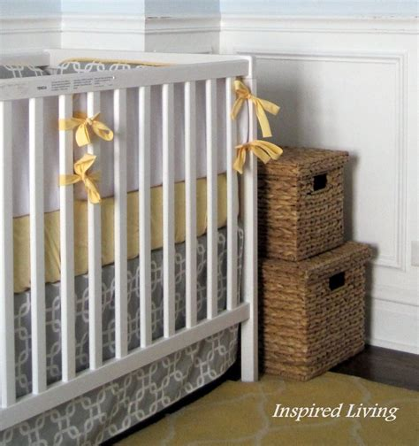 Diy Crib Bedding Set Inspired Living Diy Nursery Bedding And Window Panels