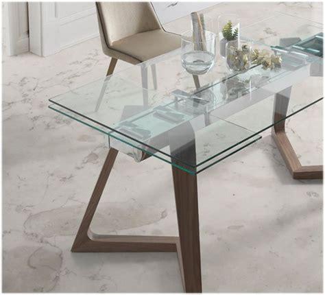 mesa comedor cristal extensible mesa comedor extensible con tapa de cristal y patas de madera