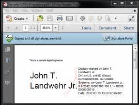 digital signatures with piv and piv i credentials