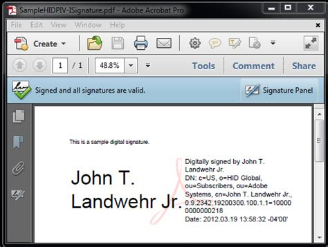 electronic signature template digital signatures with piv and piv i credentials