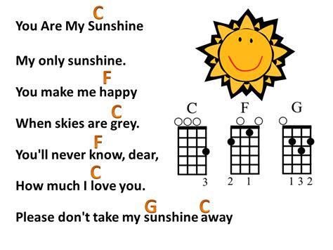 strumming pattern you are my sunshine ukulele mr robbie s music blog you are my sunshine lyrics with