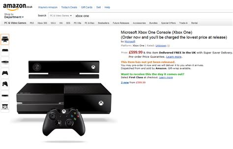 amazon xbox one xbox one to cost 163 600 in the uk says amazon