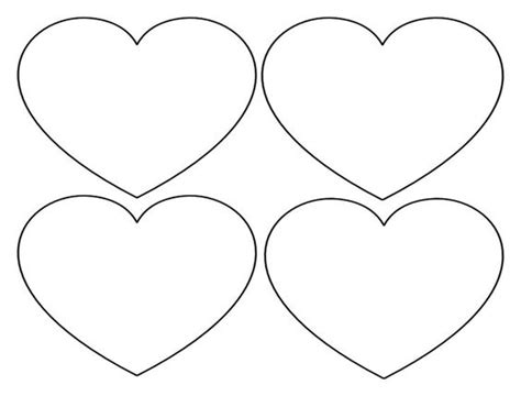 free printable valentine shapes printable heart shapes tiny small medium outlines