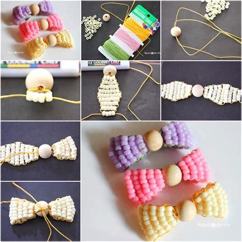 diy beautiful bead bows