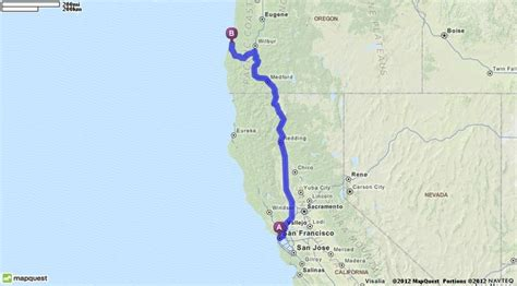 mapquest oregon driving directions from san francisco california to coos