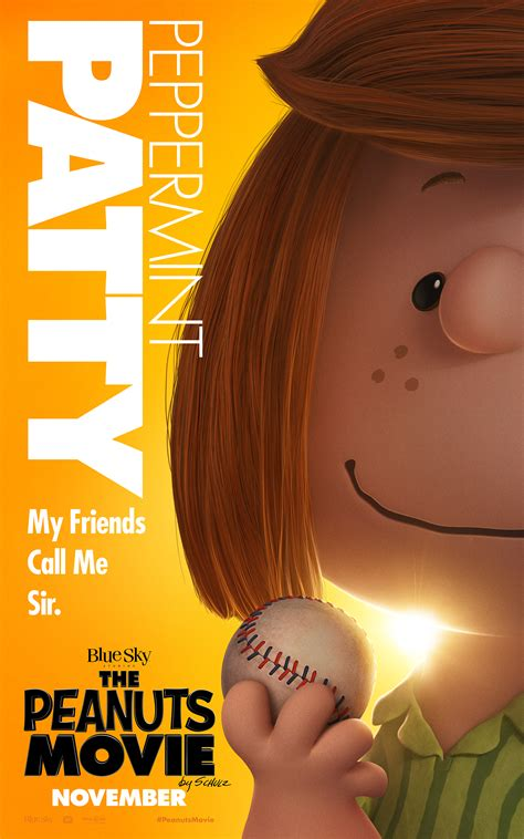 peppermint patty exclusive movie poster debut the peanuts movie