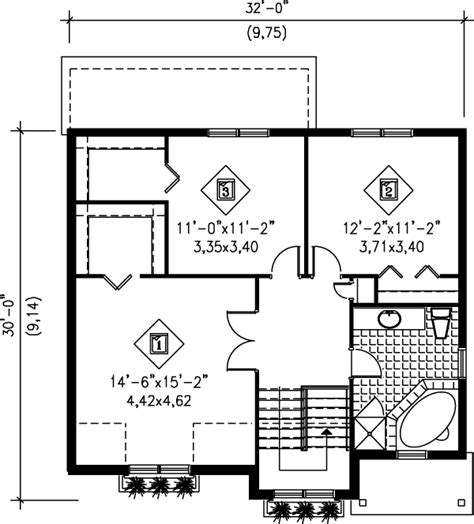hi lo cer floor plans traditional style house plan 3 beds 1 5 baths 1608 sq ft