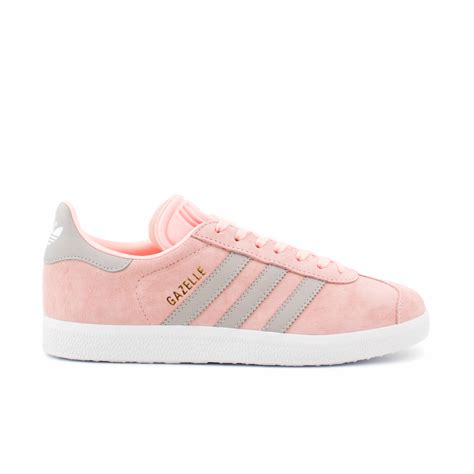 adidas gazelle originals womens pink grey casual leather classic shoes trainers ebay