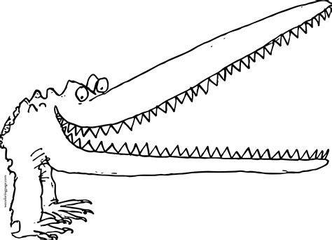 alligator mouth coloring page big mouth creature crocodile alligator coloring page