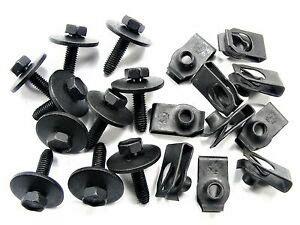 dodge body bolts  nut clips  mm  mm long mm hex qty ea  ebay