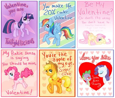 my pony valentines my pony cards by courtneygodbey on deviantart