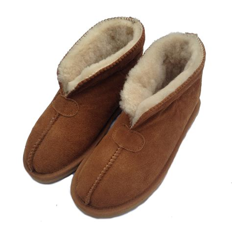 boot slippers deluxe julie sheepskin slipper boot chestnut