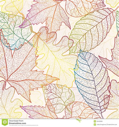 leaf pattern artwork autumn leaves seamless pattern background stock vector