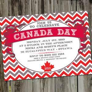 canada day printable invitation