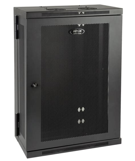 tripp lite srw18us13 18u wall mount rack enclosure cabinet
