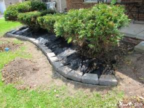 lowes landscape blocks easy landscape block wall and mulch