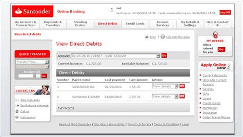santander consumer bank onlinebanking bank transfer santander