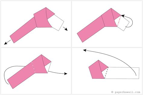 Origami Lucky Tutorial - how to make origami lucky