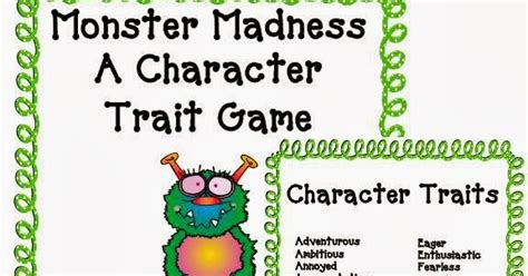 Character Traits Letter H Bum Literacy Common Character Traits
