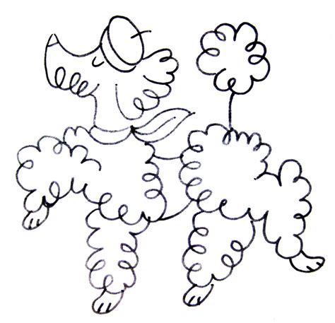 poodle template pics for gt poodle drawing outline